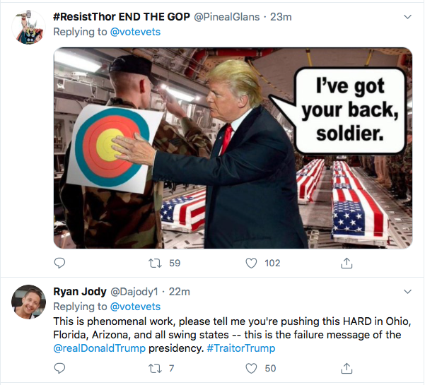 Screen-Shot-2020-07-10-at-9.43.31-AM Military Veterans Publicly Rebuke Trump In Video Attack Ad Donald Trump Election 2020 Featured Military Politics Russia Top Stories Twitter Videos