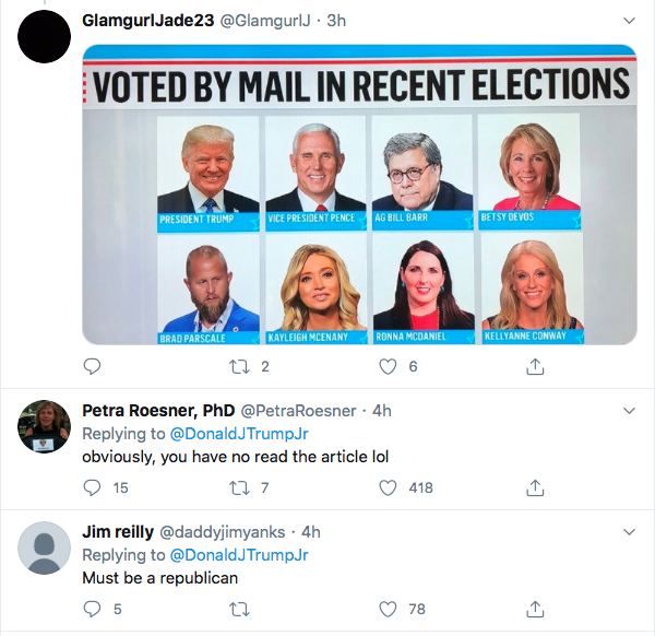 Screen-Shot-2020-07-11-at-4.19.54-PM Trump Jr Accidentally Exposes GOP Voter Fraud During Saturday Flub Donald Trump Election 2020 Featured Politics Top Stories
