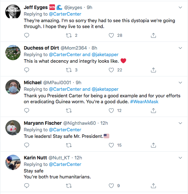 Screen-Shot-2020-07-11-at-8.32.32-PM Jimmy Carter Shames Conservatives Over Refusing Masks Coronavirus Featured Politics Top Stories Twitter