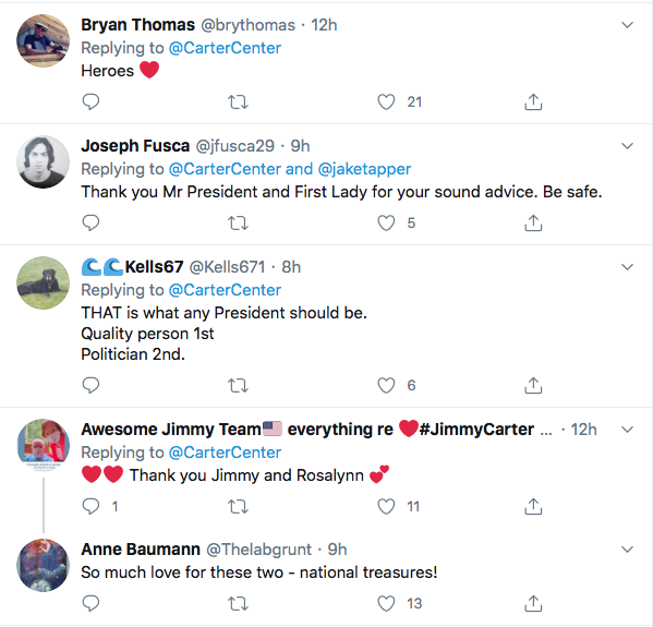 Screen-Shot-2020-07-11-at-8.32.46-PM Jimmy Carter Shames Conservatives Over Refusing Masks Coronavirus Featured Politics Top Stories Twitter