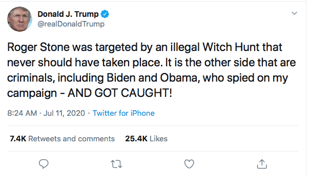 Screen-Shot-2020-07-11-at-8.57.47-AM Trump Announces Obama Crimes During Pre-Dawn Emotional Breakdown Corruption Crime Donald Trump Featured Politics Top Stories Twitter
