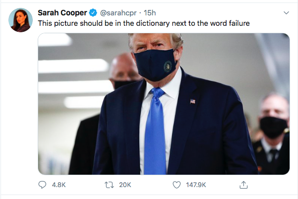 Screen-Shot-2020-07-12-at-10.49.59-AM Sarah Cooper Breaks Twitter With Weekend Trump Take-Down Donald Trump Election 2020 Featured Politics Top Stories Twitter