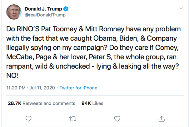 Screen-Shot-2020-07-12-at-8.43.11-AM-1 Trump Snaps & Publicly Attacks Mitt Romney Like A Jealous Ex Corruption Donald Trump Election 2020 Featured Politics Top Stories Twitter