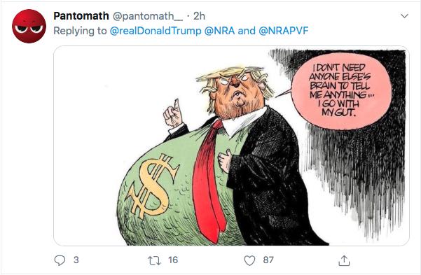 Screen-Shot-2020-07-17-at-3.18.37-PM Trump Tweets About 'Radical Left' Gun Seizures During Afternoon Stupid Donald Trump Election 2020 Gun Control NRA Politics Top Stories Twitter