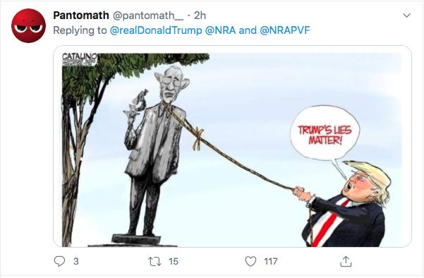 Screen-Shot-2020-07-17-at-3.18.54-PM Trump Tweets About 'Radical Left' Gun Seizures During Afternoon Stupid Donald Trump Election 2020 Gun Control NRA Politics Top Stories Twitter