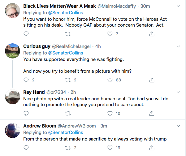 Screen-Shot-2020-07-18-at-11.15.36-AM Susan Collins Attempts John Lewis Tribute But Fails Miserably Election 2020 Featured Politics Top Stories Twitter