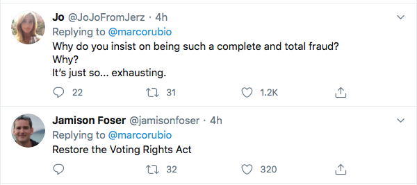 Screen-Shot-2020-07-18-at-8.13.31-PM Rubio's Apology For Posting Wrong Black Man Goes Horribly Wrong With Misspelling Featured Politics Top Stories Twitter