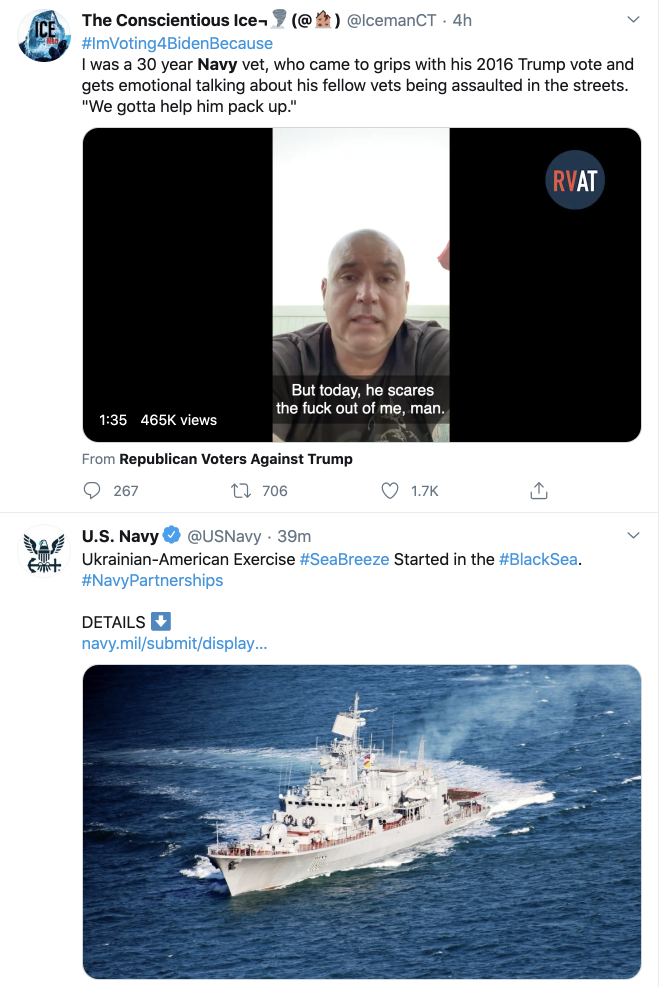 Screen-Shot-2020-07-23-at-11.40.19-AM Navy 'Hero' Sarah Dudrey Yells 'Fuck Trump!' & Goes Viral Fast Featured Military Politics Protest Top Stories