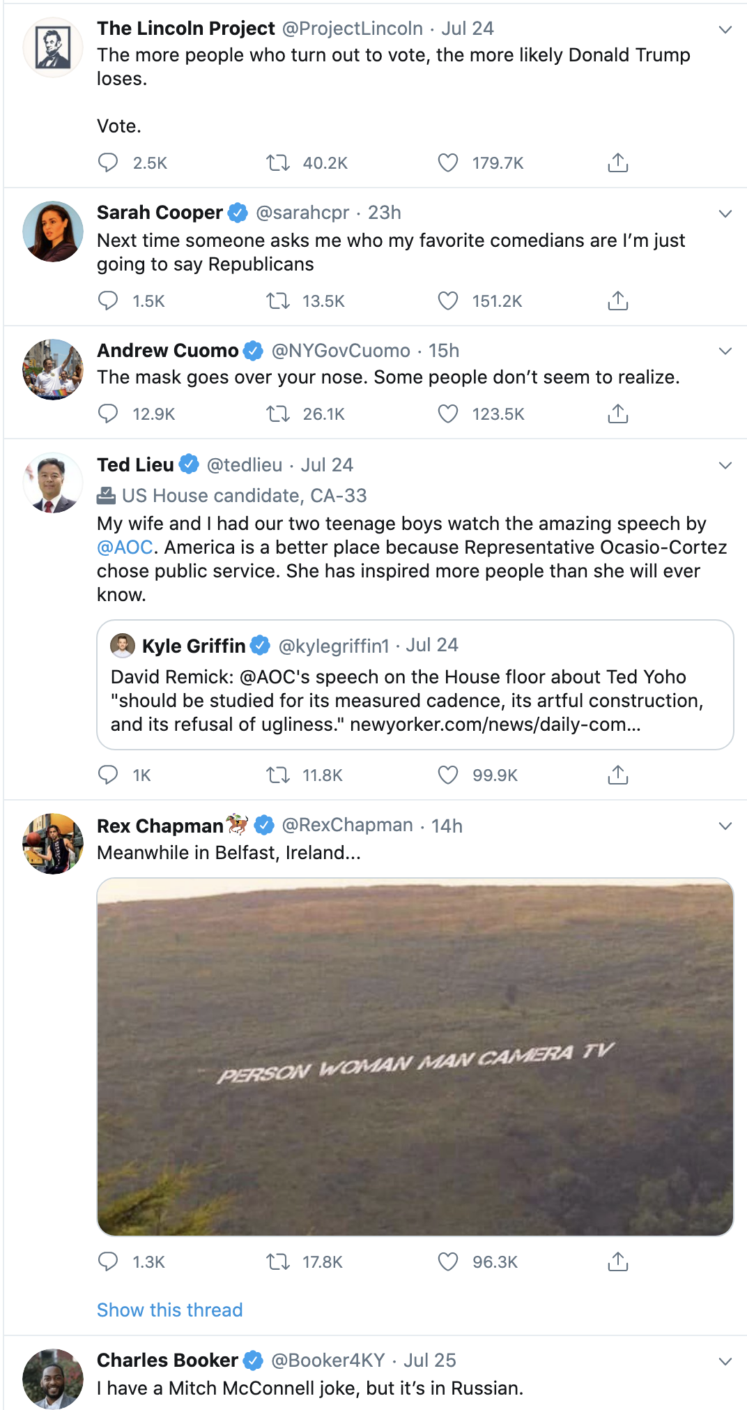 Screen-Shot-2020-07-26-at-11.02.21-AM Obama Tweets Sunday Message Of Hope To Young Voters Domestic Policy Election 2020 Featured Politics Top Stories