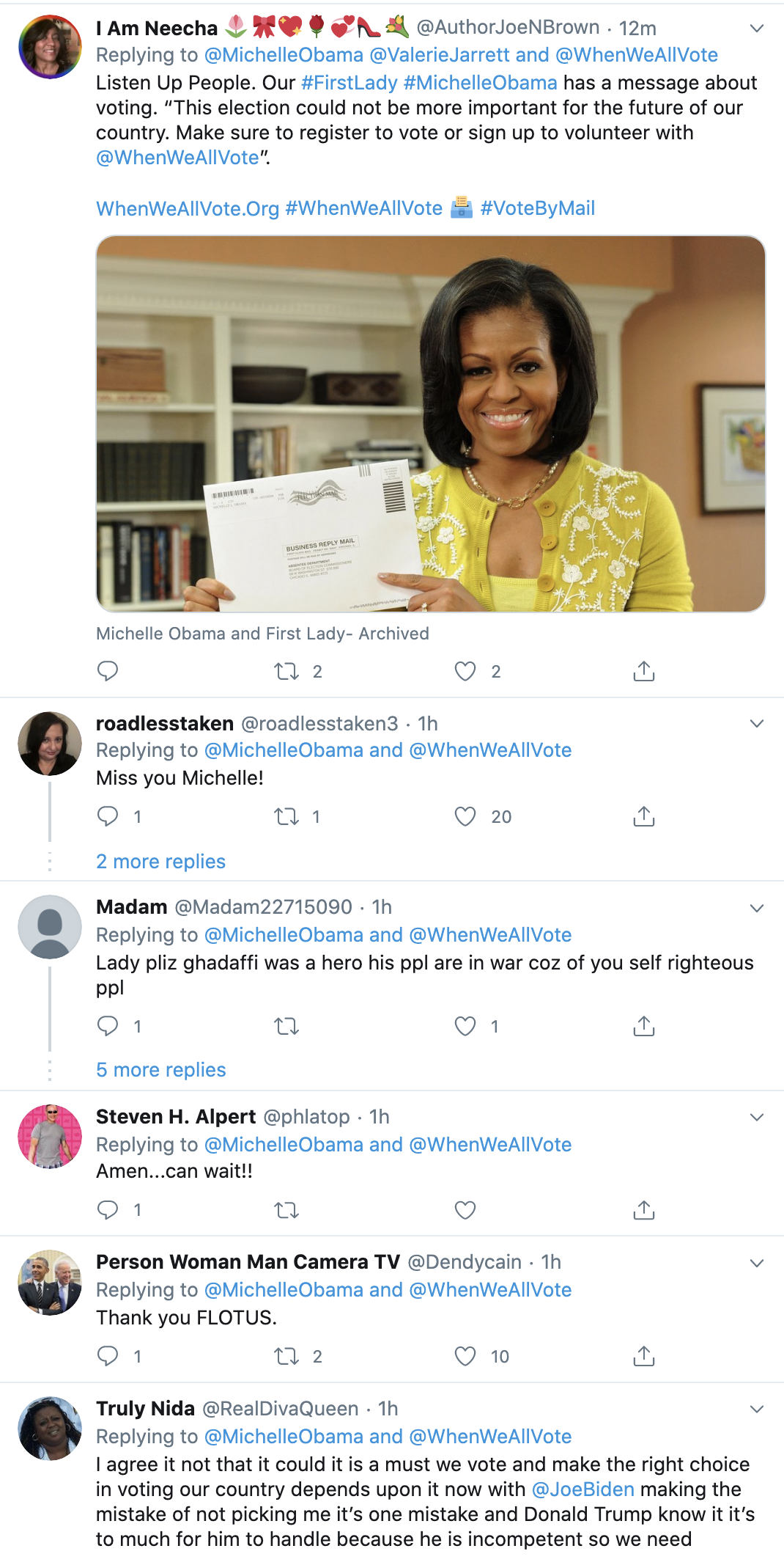 Screen-Shot-2020-07-26-at-12.47.24-PM Michelle Obama Tweets 100 Day Until Election Message Of Unity To America Election 2020 Featured National Security Politics Top Stories