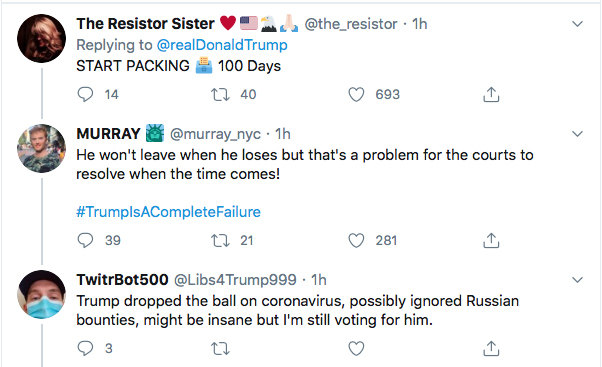 Screen-Shot-2020-07-26-at-6.50.24-PM Trump Calls Vet & Mom Protestors Fake News During Online Hissy-Fit Conspiracy Theory Coronavirus Donald Trump Election 2020 Featured Politics Top Stories Twitter