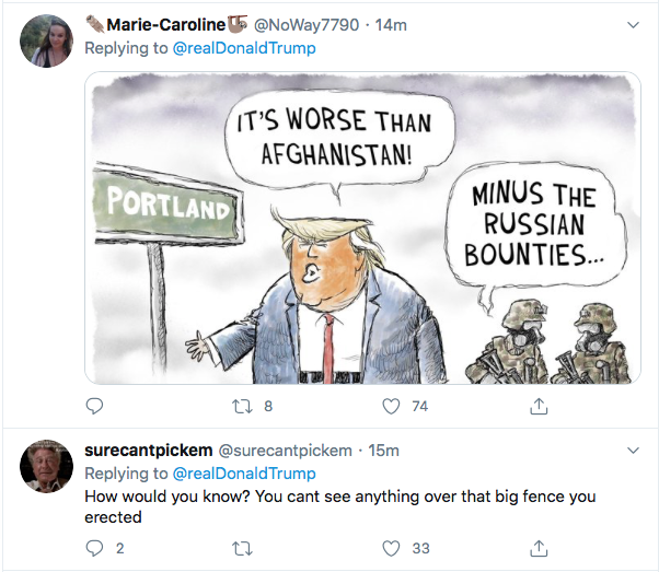 Screen-Shot-2020-07-26-at-6.54.11-PM Trump Calls Vet & Mom Protestors Fake News During Online Hissy-Fit Conspiracy Theory Coronavirus Donald Trump Election 2020 Featured Politics Top Stories Twitter