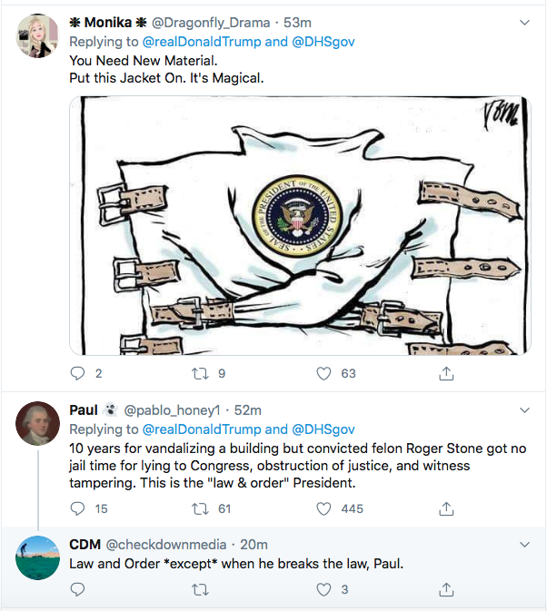 Screen-Shot-2020-07-27-at-7.24.26-PM Trump Snarls That 'Cities Will Burn' If Biden Wins During 5-Tweet Freak Out Black Lives Matter Donald Trump Election 2020 Featured Politics Top Stories Twitter
