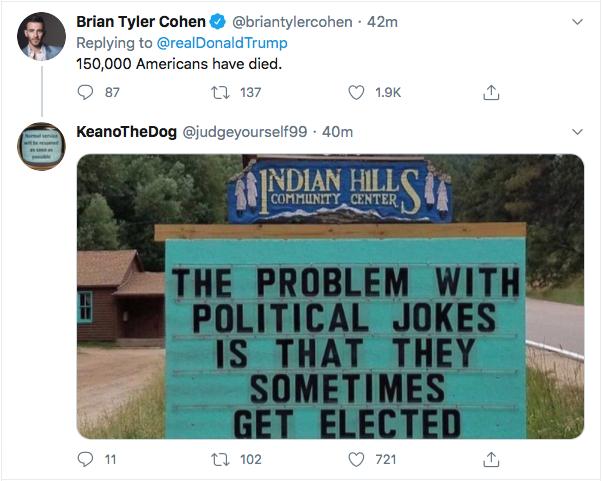 Screen-Shot-2020-07-27-at-7.25.46-PM Trump Snarls That 'Cities Will Burn' If Biden Wins During 5-Tweet Freak Out Black Lives Matter Donald Trump Election 2020 Featured Politics Top Stories Twitter
