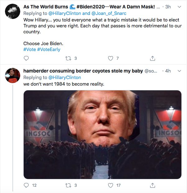 Screen-Shot-2020-07-30-at-3.20.03-PM Hillary Trolls Trump With Single Gesture Over Delayed Election Threat Donald Trump Election 2020 Featured Hillary Clinton Politics Top Stories Twitter