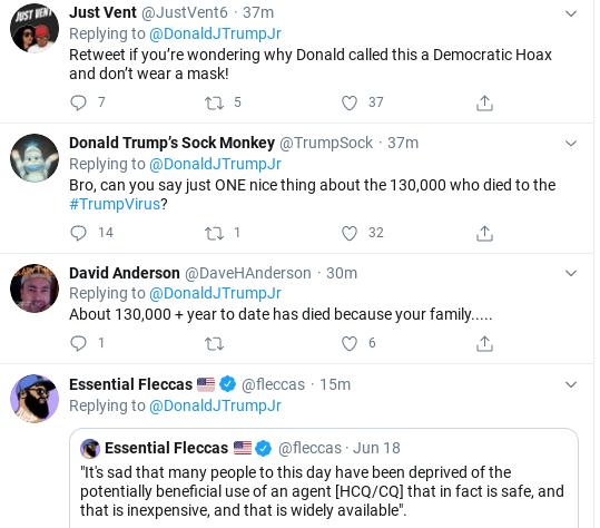 Screenshot-2020-07-06-at-10.36.00-AM Trump Jr.Suffers Monday Morning Mental Breakdown Over COVID Failure Donald Trump Politics Social Media Top Stories