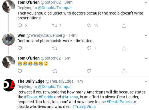Screenshot-2020-07-06-at-10.38.53-AM Trump Jr.Suffers Monday Morning Mental Breakdown Over COVID Failure Donald Trump Politics Social Media Top Stories