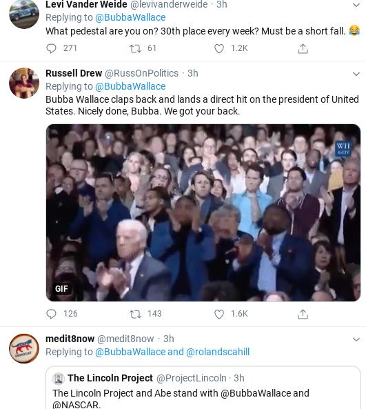 Screenshot-2020-07-06-at-6.33.25-PM NASCAR's Bubba Wallace Emasculates Trump During Monday Rebuke Donald Trump Politics Racism Social Media Top Stories