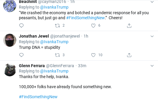Screenshot-2020-07-14-at-10.33.08-AM Ivanka Suffers Widespread Humiliation After Tuesday Announcement Goes Wrong Donald Trump Economy Politics Social Media Top Stories