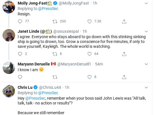 Screenshot-2020-07-18-at-12.01.05-PM Kayleigh McEnany Embarrasses Herself Again With John Lewis Statement Donald Trump Politics Social Media Top Stories
