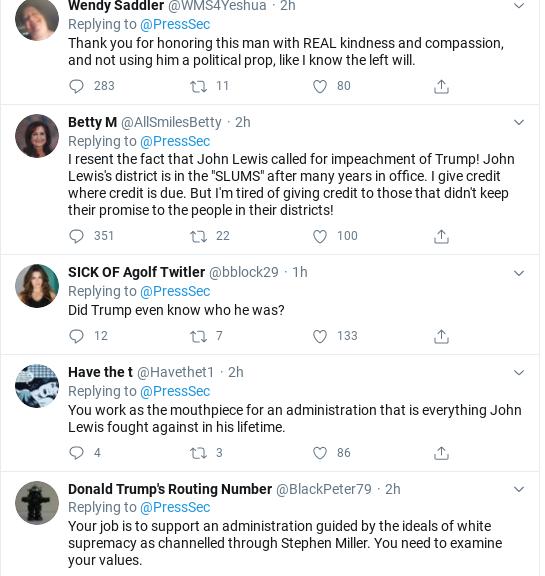 Screenshot-2020-07-18-at-12.01.27-PM Kayleigh McEnany Embarrasses Herself Again With John Lewis Statement Donald Trump Politics Social Media Top Stories