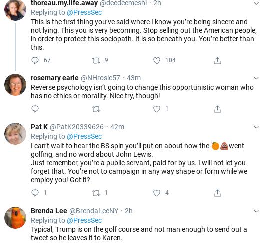 Screenshot-2020-07-18-at-12.01.52-PM Kayleigh McEnany Embarrasses Herself Again With John Lewis Statement Donald Trump Politics Social Media Top Stories
