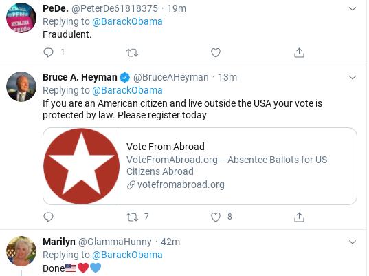 Screenshot-2020-07-28-at-1.12.22-PM Obama Tweets Tuesday Vote-By-Mail Instructions Like Our Real President Donald Trump Election 2020 Politics Social Media Top Stories