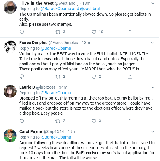 Screenshot-2020-07-28-at-1.12.31-PM Obama Tweets Tuesday Vote-By-Mail Instructions Like Our Real President Donald Trump Election 2020 Politics Social Media Top Stories