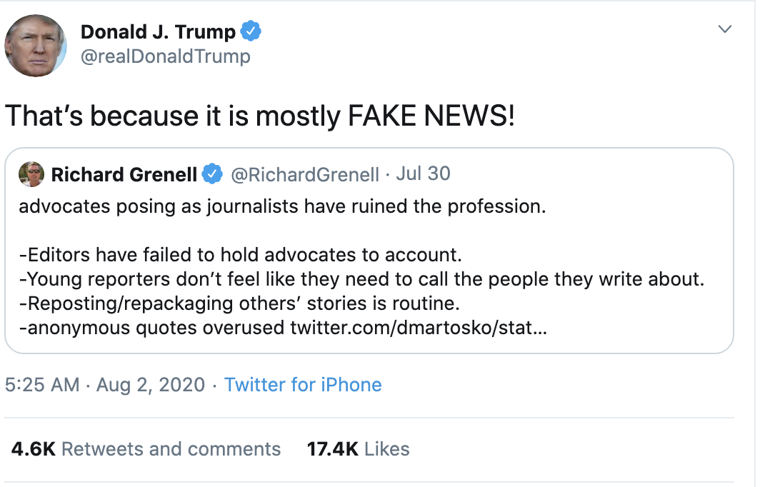 Screen-Shot-2020-08-02-at-8.14.26-AM Trump Goes Full 'Douche Bag' With Racist Sunday Morning Meltdown Coronavirus Election 2020 Featured Politics Top Stories