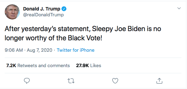 Screen-Shot-2020-08-07-at-9.28.54-AM Trump Tweets 4 Friday Statements Like A Lunatic On Drugs Donald Trump Election 2020 Featured Politics Top Stories Twitter