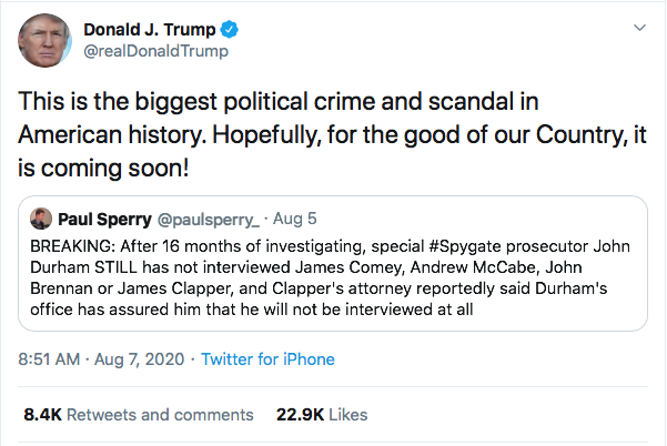 Screen-Shot-2020-08-07-at-9.59.16-AM Trump Tweets 4 Friday Statements Like A Lunatic On Drugs Donald Trump Election 2020 Featured Politics Top Stories Twitter