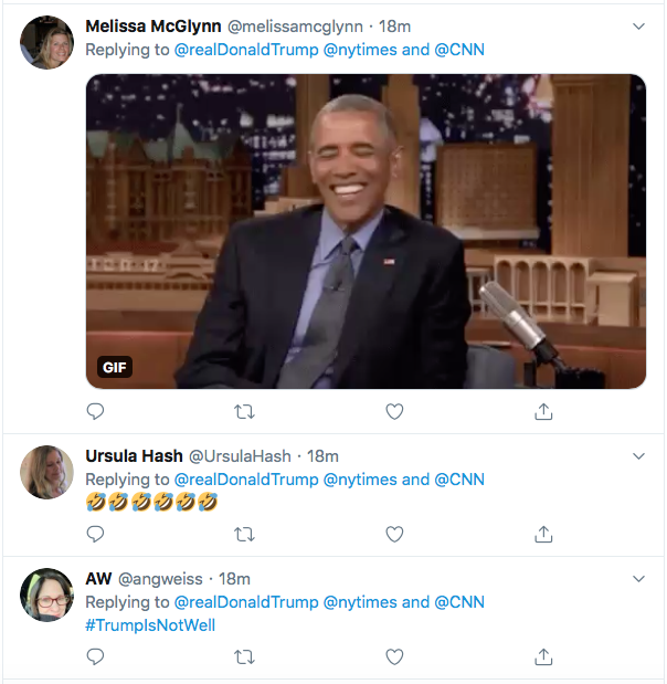 Screen-Shot-2020-08-09-at-9.45.18-PM Trump Snaps At CNN & NY Times During Deranged Twitter Meltdown Donald Trump Election 2020 Featured Politics Top Stories Twitter