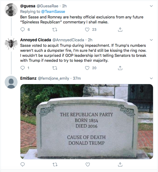 Screen-Shot-2020-08-10-at-6.18.54-PM Ben Sasse Responds To Trump's Twitter Tantrum Like A Real Adult Coronavirus Donald Trump Election 2020 Featured Impeachment Politics Top Stories Twitter