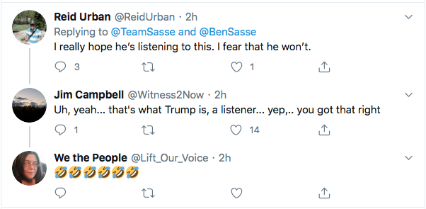 Screen-Shot-2020-08-10-at-6.19.49-PM Ben Sasse Responds To Trump's Twitter Tantrum Like A Real Adult Coronavirus Donald Trump Election 2020 Featured Impeachment Politics Top Stories Twitter