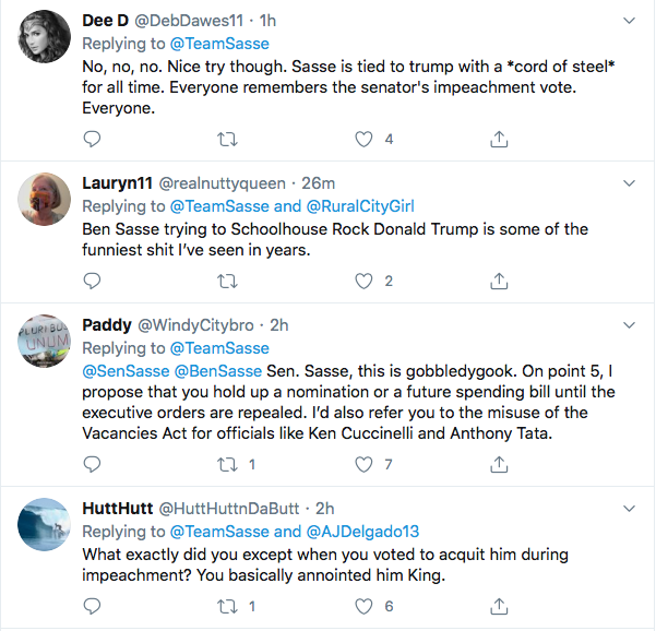 Screen-Shot-2020-08-10-at-6.21.24-PM Ben Sasse Responds To Trump's Twitter Tantrum Like A Real Adult Coronavirus Donald Trump Election 2020 Featured Impeachment Politics Top Stories Twitter
