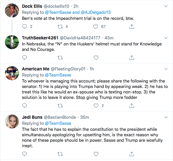 Screen-Shot-2020-08-10-at-6.21.42-PM Ben Sasse Responds To Trump's Twitter Tantrum Like A Real Adult Coronavirus Donald Trump Election 2020 Featured Impeachment Politics Top Stories Twitter