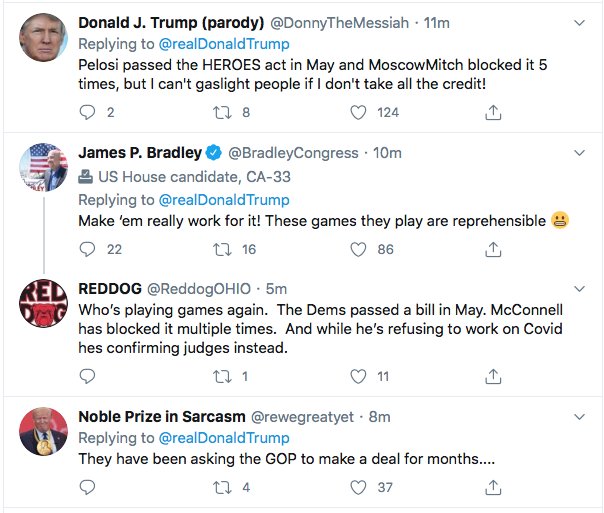 Screen-Shot-2020-08-10-at-9.24.11-AM Trump Names New Enemies During Monday Morning Mental Breakdown Coronavirus Donald Trump Election 2020 Featured Politics Top Stories Twitter