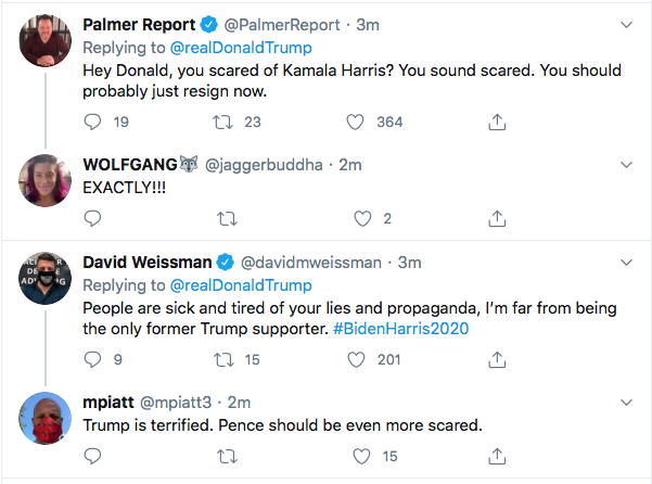 Screen-Shot-2020-08-11-at-4.44.58-PM Terrified Trump Tweets At Kamala Harris Like A Scared Boy Donald Trump Election 2020 Featured Politics Top Stories Twitter Videos
