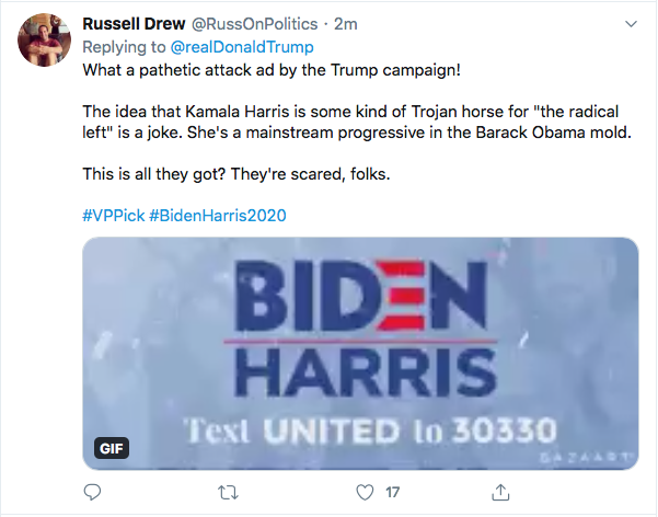 Screen-Shot-2020-08-11-at-4.48.03-PM Terrified Trump Tweets At Kamala Harris Like A Scared Boy Donald Trump Election 2020 Featured Politics Top Stories Twitter Videos