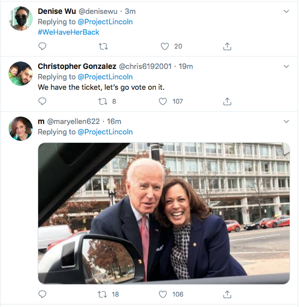 Screen-Shot-2020-08-11-at-5.09.08-PM 'The Lincoln Project' Master Trolls Trump Over Kamala Harris VP Pick Donald Trump Election 2020 Featured Politics Top Stories Twitter Videos
