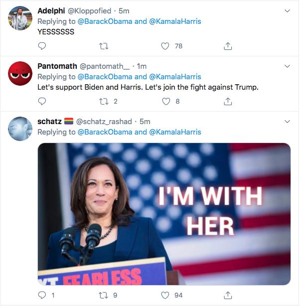 Screen-Shot-2020-08-11-at-5.23.21-PM Obama Trolls Trump Over Kamala Harris Pick; 'Joe Nailed This'  (TWEET) Election 2020 Featured Politics Top Stories Twitter