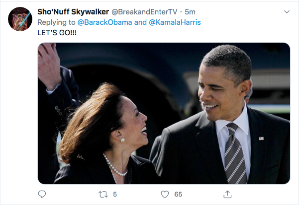 Screen-Shot-2020-08-11-at-5.23.33-PM Obama Trolls Trump Over Kamala Harris Pick; 'Joe Nailed This'  (TWEET) Election 2020 Featured Politics Top Stories Twitter