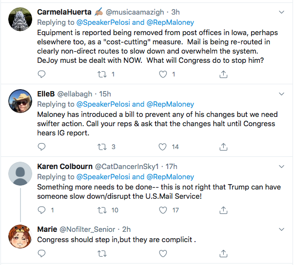 Screen-Shot-2020-08-13-at-11.51.28-AM Pelosi Recruits 70+ Members Of Congress To Stop USPS Sabotage Donald Trump Election 2020 Featured Politics Top Stories
