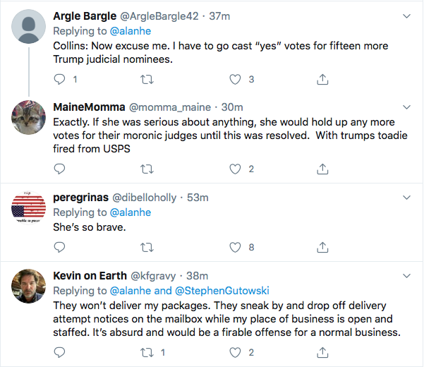 Screen-Shot-2020-08-13-at-5.36.24-PM Susan Collins Finally Ditches Trump Over Mail In Vote Sabotage Donald Trump Election 2020 Featured Politics Top Stories Twitter