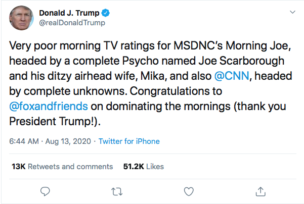 Screen-Shot-2020-08-13-at-9.06.51-AM Trump Tweets Directly To Kamala Harris Like A Scared Little Boy Donald Trump Election 2020 Featured Politics Top Stories Twitter