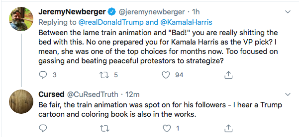 Screen-Shot-2020-08-13-at-9.10.37-AM Trump Tweets Directly To Kamala Harris Like A Scared Little Boy Donald Trump Election 2020 Featured Politics Top Stories Twitter