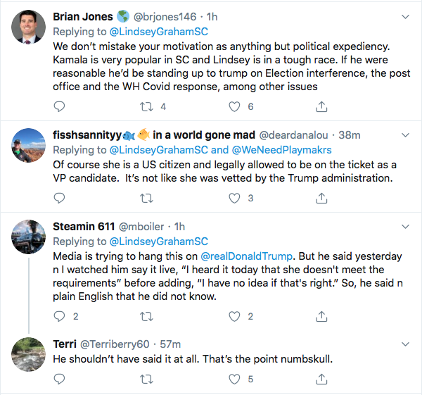 Screen-Shot-2020-08-14-at-11.15.14-AM Lindsey Graham Makes Kamala Harris 'Birther' Statement That Will Enrage Trump Donald Trump Election 2020 Featured Politics Top Stories Twitter