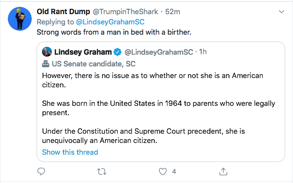 Screen-Shot-2020-08-14-at-11.16.29-AM Lindsey Graham Makes Kamala Harris 'Birther' Statement That Will Enrage Trump Donald Trump Election 2020 Featured Politics Top Stories Twitter