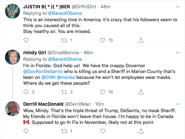 Screen-Shot-2020-08-14-at-11.39.45-AM Obama Tweets Defiant Friday USPS Sabotage Declaration Conspiracy Theory Donald Trump Election 2020 Featured Politics Top Stories Twitter