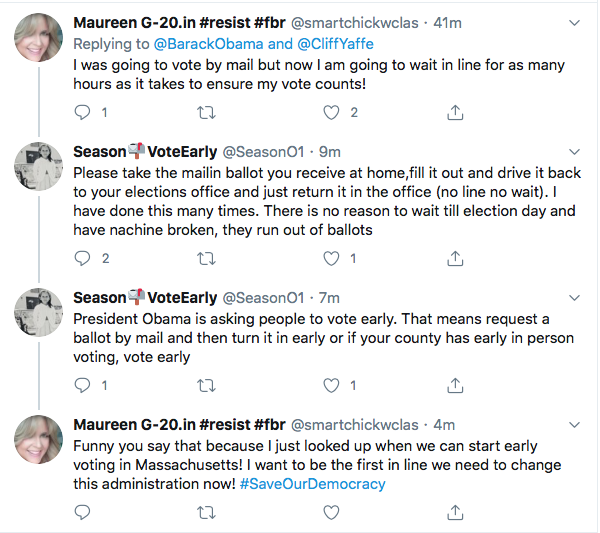 Screen-Shot-2020-08-14-at-11.41.34-AM Obama Tweets Defiant Friday USPS Sabotage Declaration Conspiracy Theory Donald Trump Election 2020 Featured Politics Top Stories Twitter